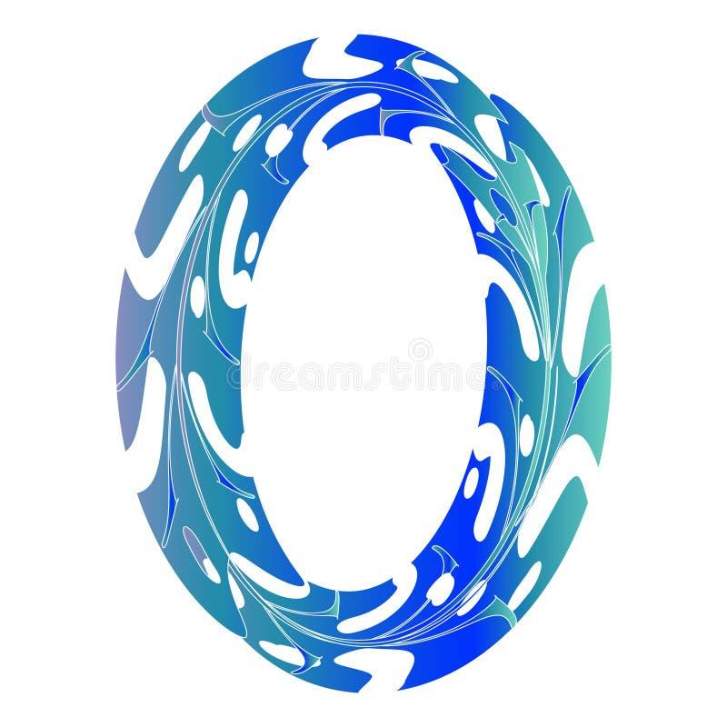 Первоначальный нул дизайнов символа иллюстрация вектора