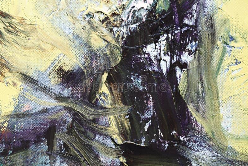 Первоначально абстрактная картина маслом стоковая фотография rf