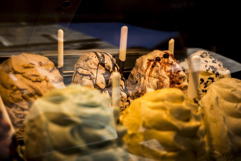 Первоначально итальянское мороженое в Сиене стоковое фото