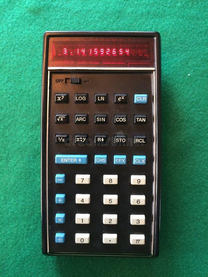 Первоначально карманный калькулятор стоковые фотографии rf