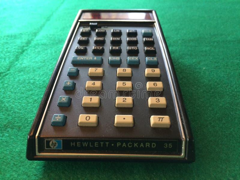 Первоначально карманный калькулятор стоковое фото rf