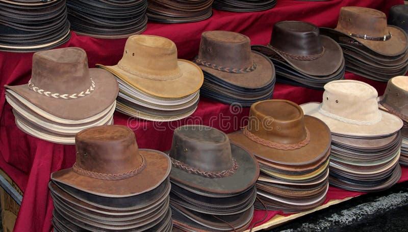 Первоначально кожаные шляпы в Австралии стоковые изображения rf