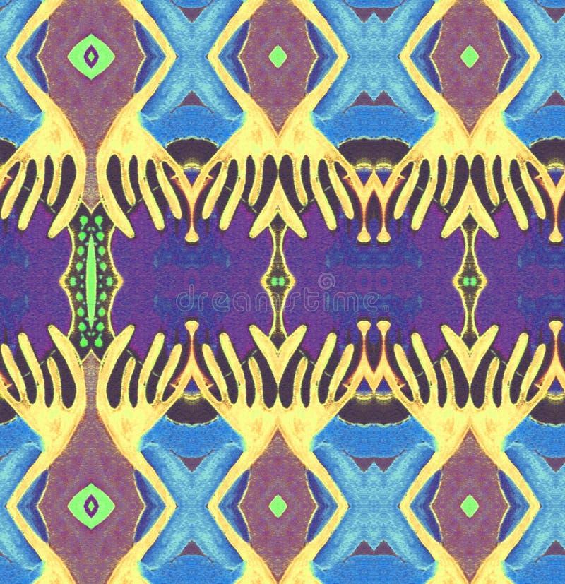 Первоначально космос сини желтого цвета картины стоковые фото