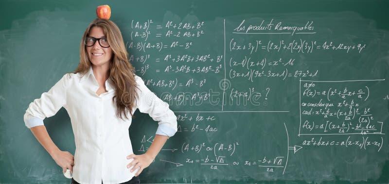 Первоначально объяснение математик стоковое изображение