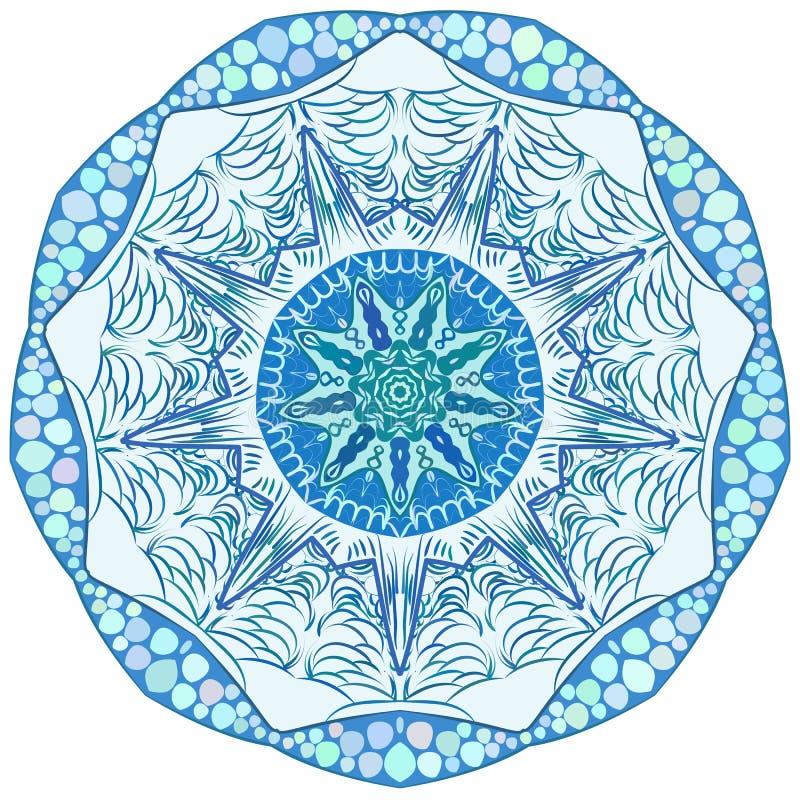 Первоначально снежинка вектора орнамента шнурка иллюстрация штока