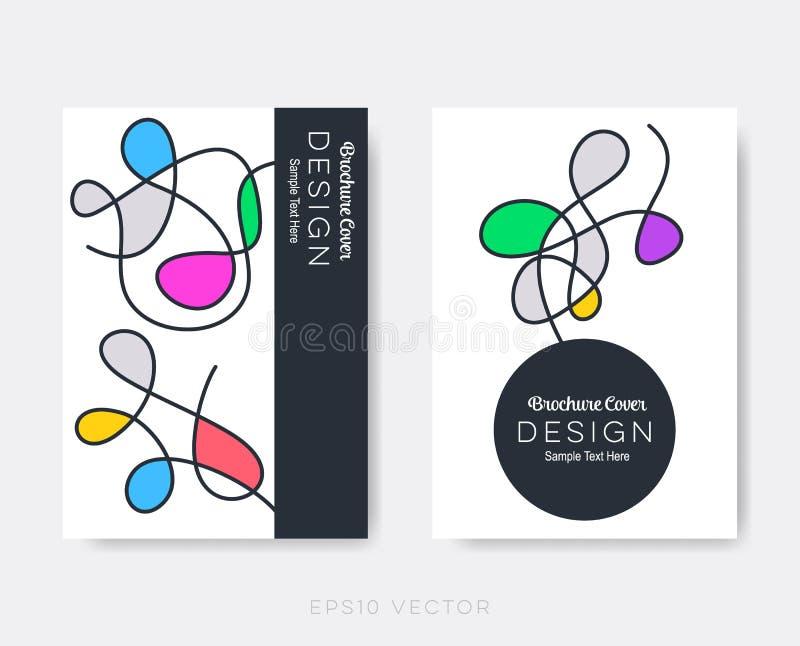 Первоначально современный шаблон дизайна брошюры иллюстрация вектора