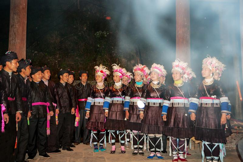Первоначально хор Дуна, Гуйчжоу, фарфор стоковое фото