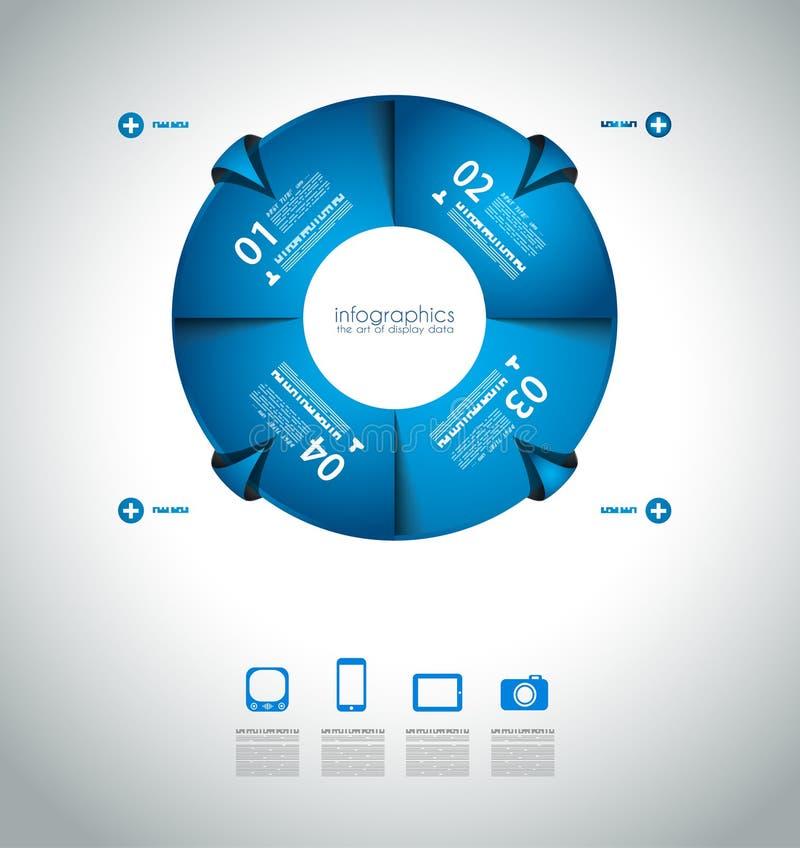 Первоначально шаблоны Infographics стиля бесплатная иллюстрация