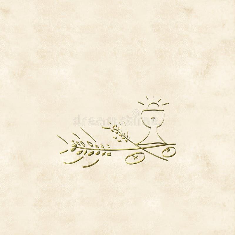 Первые карточки приглашений святого причастия бесплатная иллюстрация