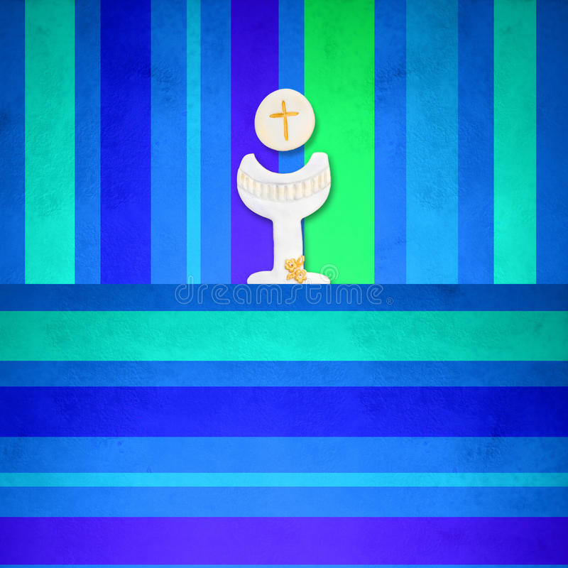 Первые приглашения святого причастия иллюстрация штока