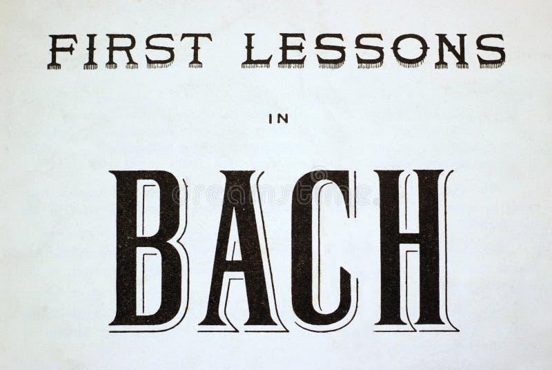 Первые уроки в Bach стоковые фото