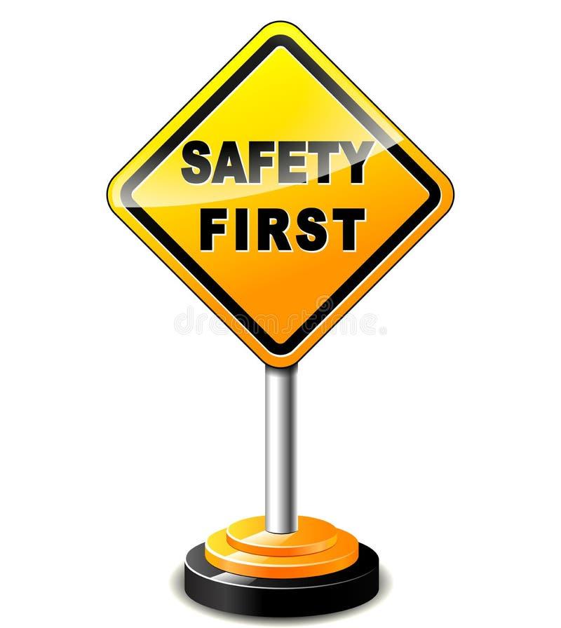 первый знак безопасности иллюстрация вектора