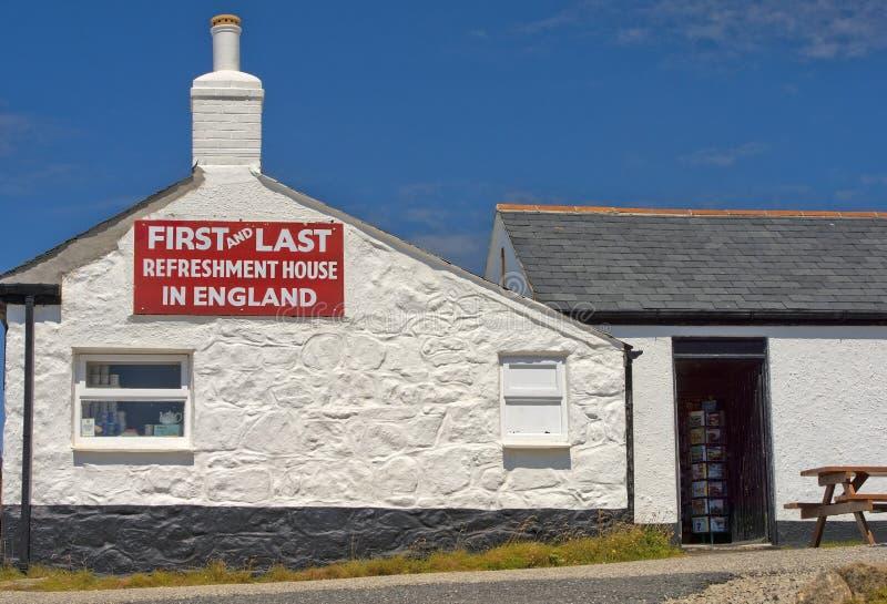 Первый и последний дом освежения, Корнуолл, Англия стоковые фотографии rf
