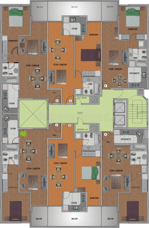первый этаж иллюстрация вектора