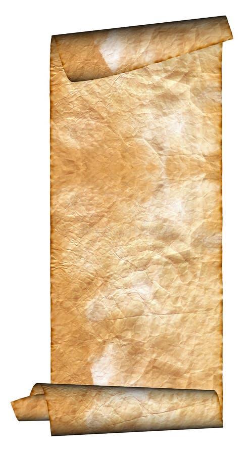 пергамент иллюстрации grunge свернул сбор винограда стоковая фотография rf