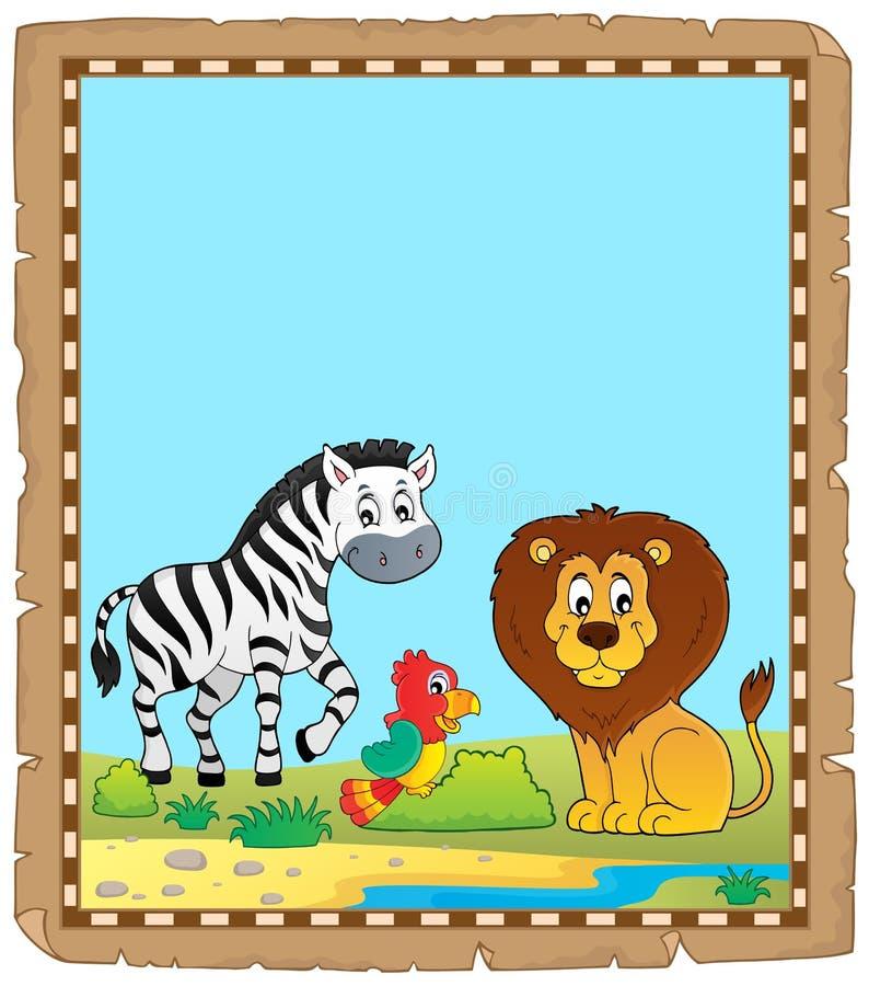 Пергамент с африканскими животными 5 бесплатная иллюстрация