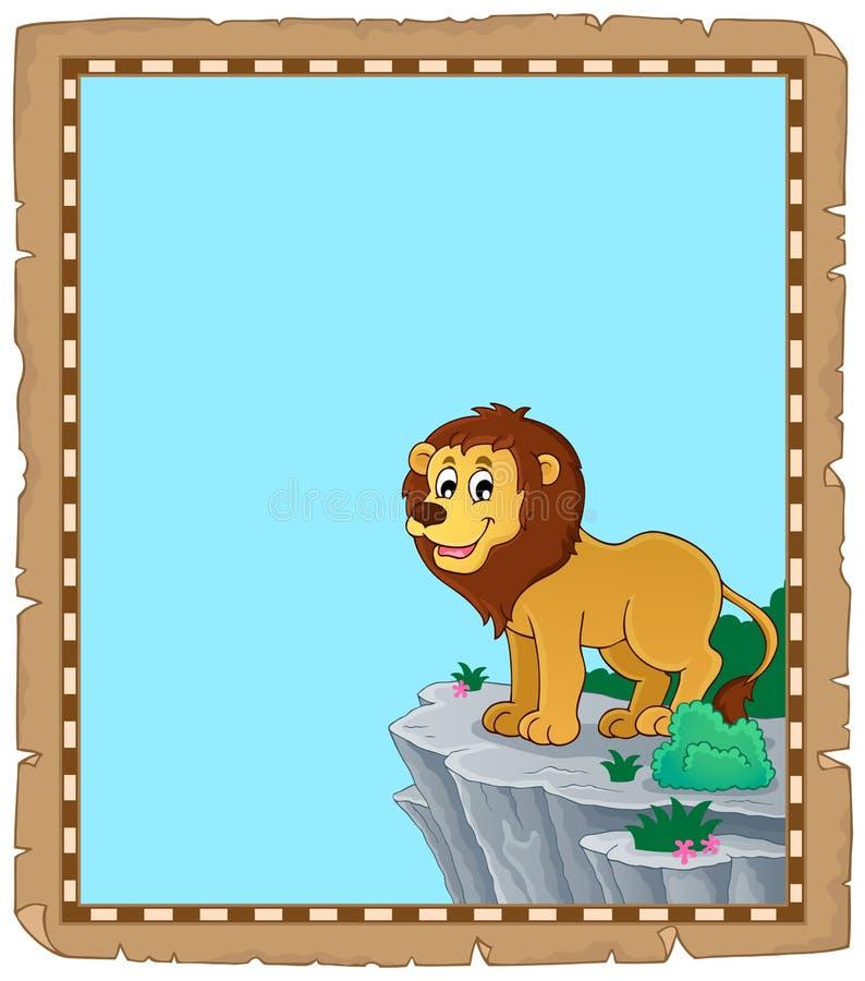 Пергамент 1 темы льва бесплатная иллюстрация