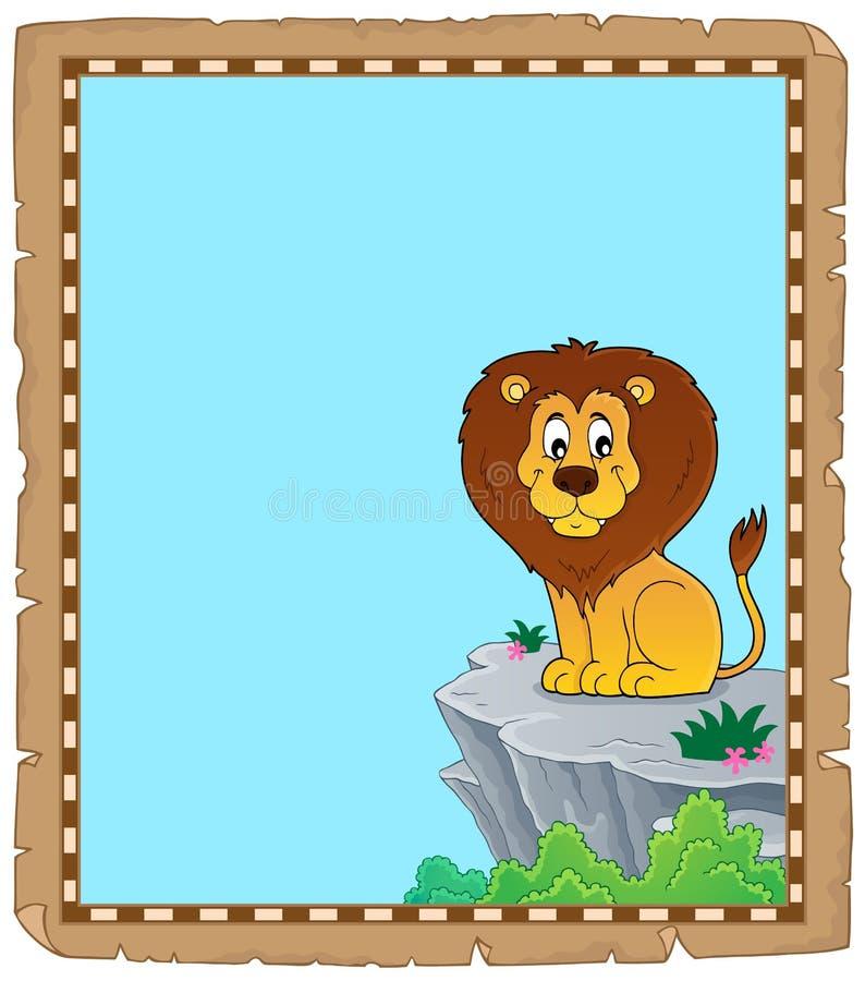 Пергамент 3 темы льва иллюстрация штока