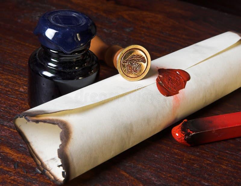 пергамент стоковая фотография