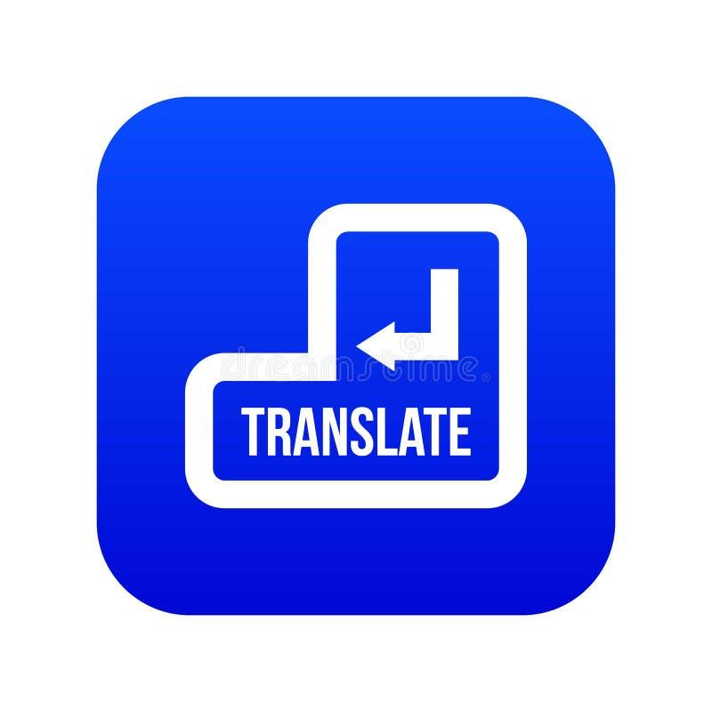 Переведите синь значка кнопки цифровую иллюстрация вектора
