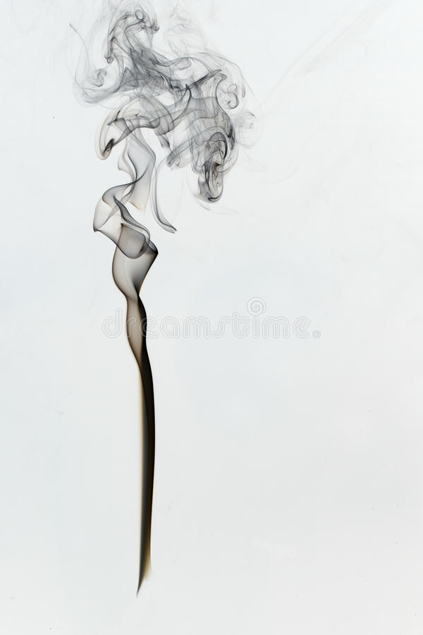 Перевернутая черная диаграмма дыма на белой предпосылке стоковая фотография