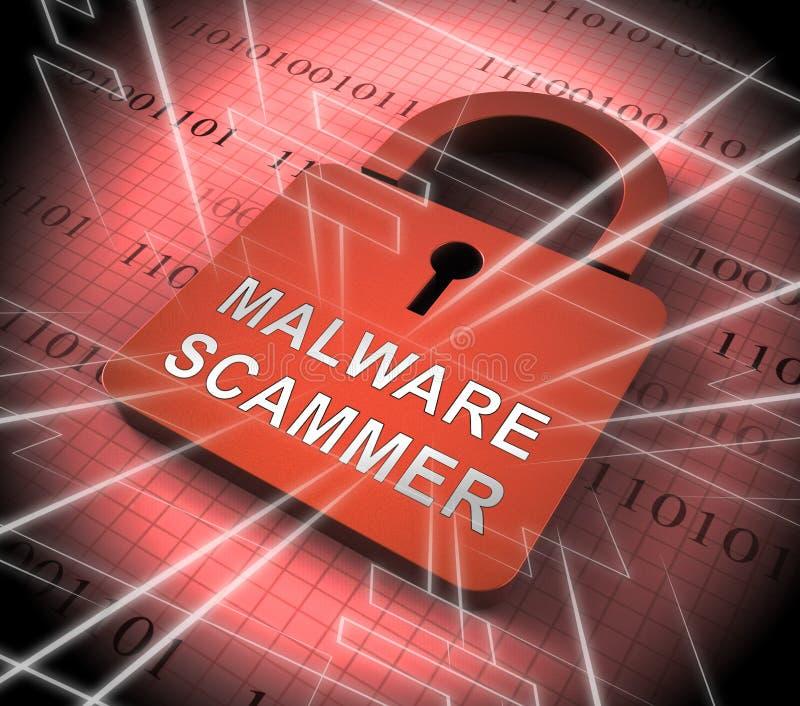 Перевод безопасности 3d экрана безопасностью Malware Scammer бесплатная иллюстрация