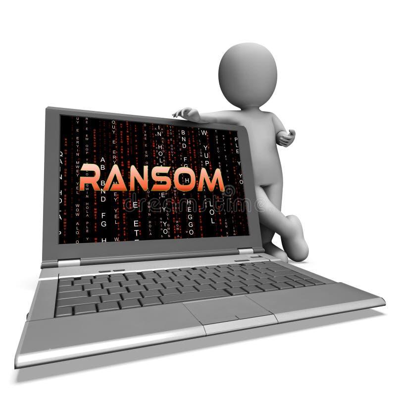 Перевод вымогательства 3d данным по компьютерного хакера выкупа иллюстрация штока