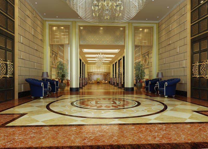 перевод гостиницы залы бесплатная иллюстрация