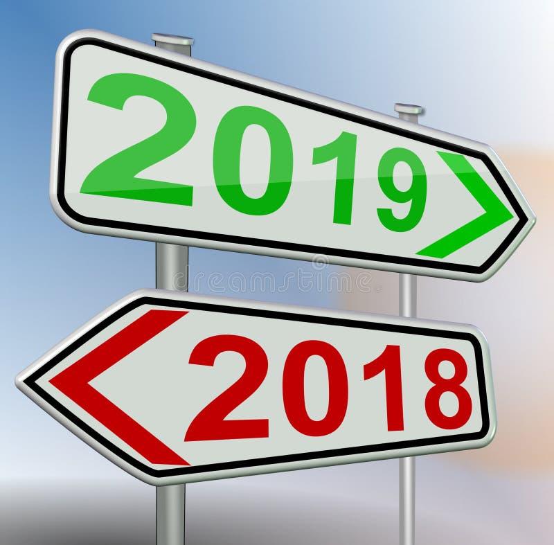 2019 2018 перевод дорожного знака изменения красный зеленый 3d бесплатная иллюстрация