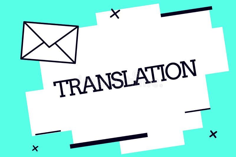 Перевод текста почерка Процесс смысла концепции переводить формулирует текст от одного языка в другие иллюстрация штока