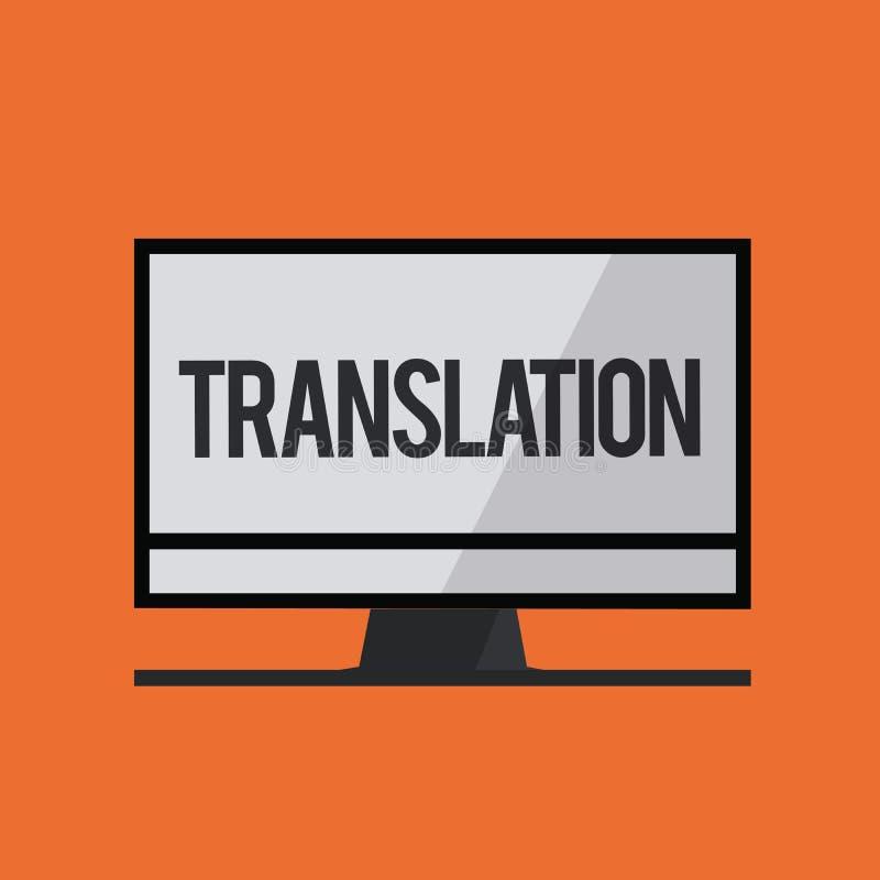 Перевод текста сочинительства слова Концепция дела для процесса переводить формулирует текст от одного языка в другие иллюстрация вектора