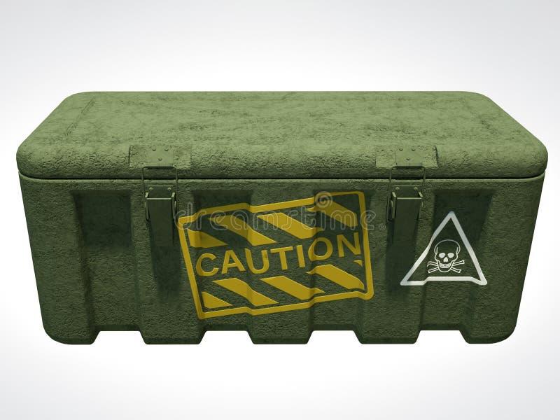 перевод 3D воинской грубой коробки изолированной на белизне бесплатная иллюстрация