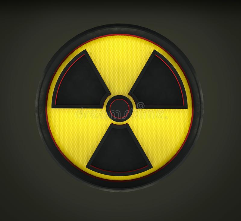 перевод 3D кругового знака radiaction иллюстрация штока