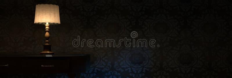 перевод 3d облегчает лампу ухода за больным перед стеной grunge бесплатная иллюстрация