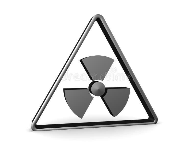 перевод 3D радиоактивного предупредительного знака иллюстрация штока