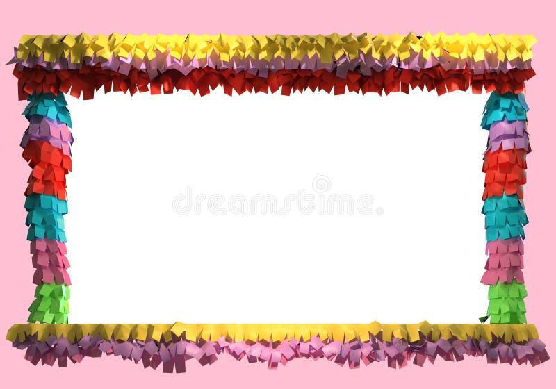 перевод 3d рамки pinata иллюстрация вектора