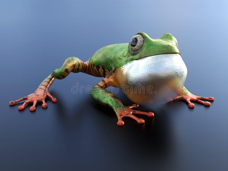 перевод 3D реалистической древесной лягушки иллюстрация штока