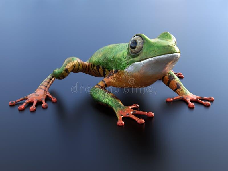 перевод 3D реалистической древесной лягушки бесплатная иллюстрация