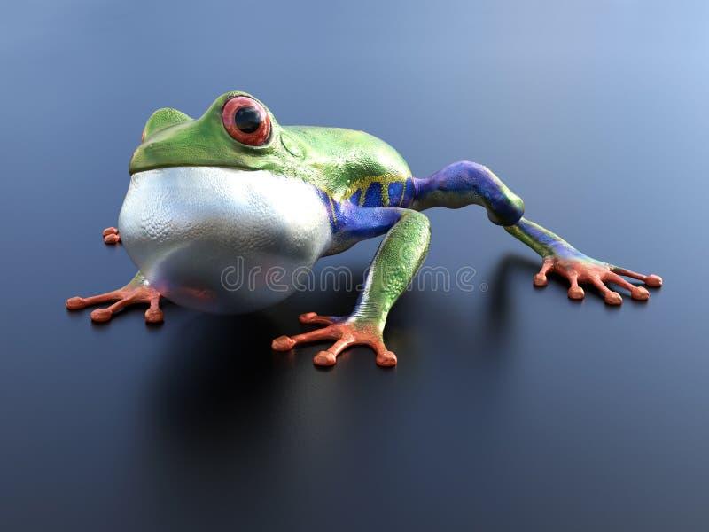 перевод 3D реалистической красно-наблюданной древесной лягушки бесплатная иллюстрация