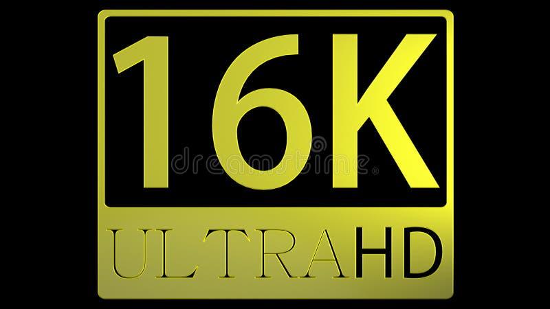 перевод 3d славного взгляда ультра изображения HD 16K стоковые изображения rf