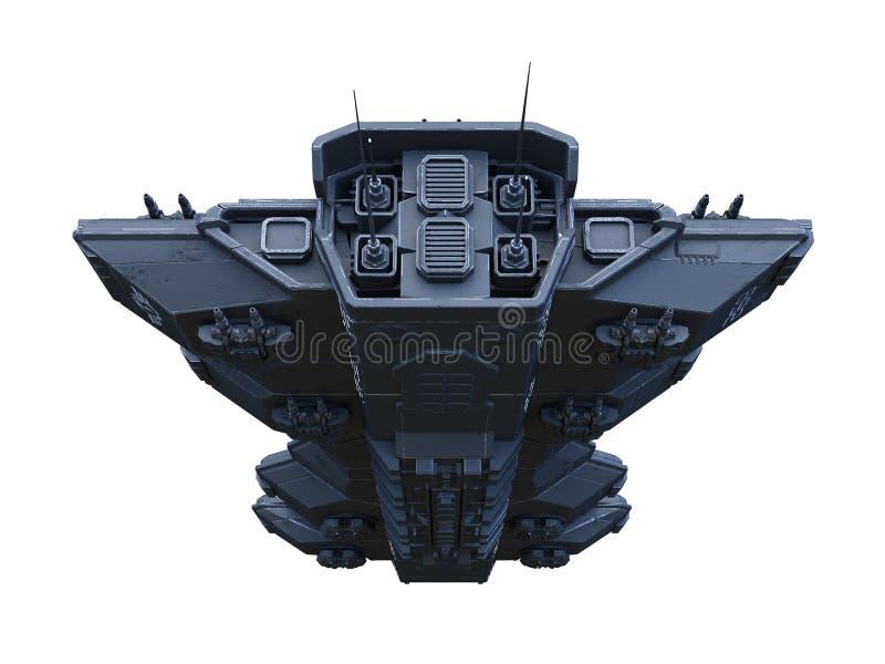 перевод 3D CG космического корабля иллюстрация штока