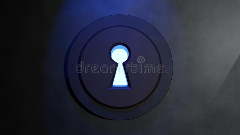 Перевод Keyhole 3D иллюстрация штока
