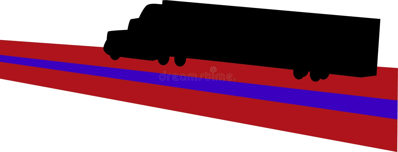 перевозить на грузовиках иллюстрация вектора