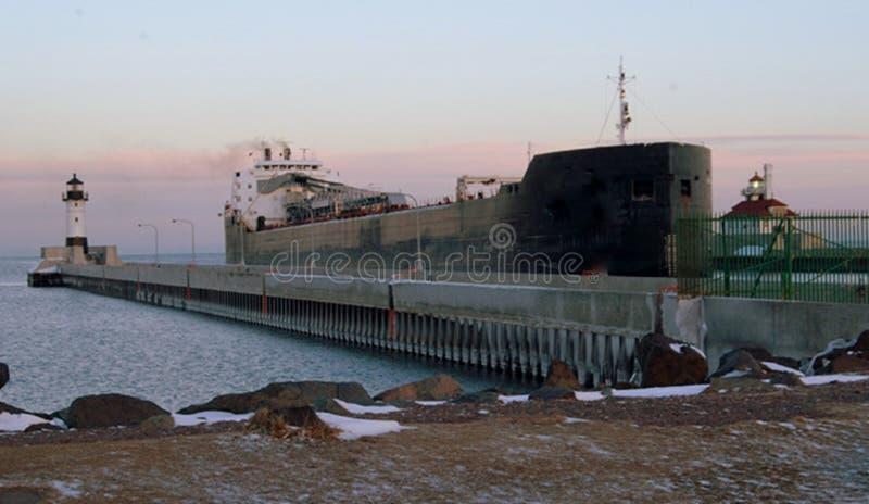 Перевозка Великих озер входит Дулут, гавань Mn стоковое изображение rf