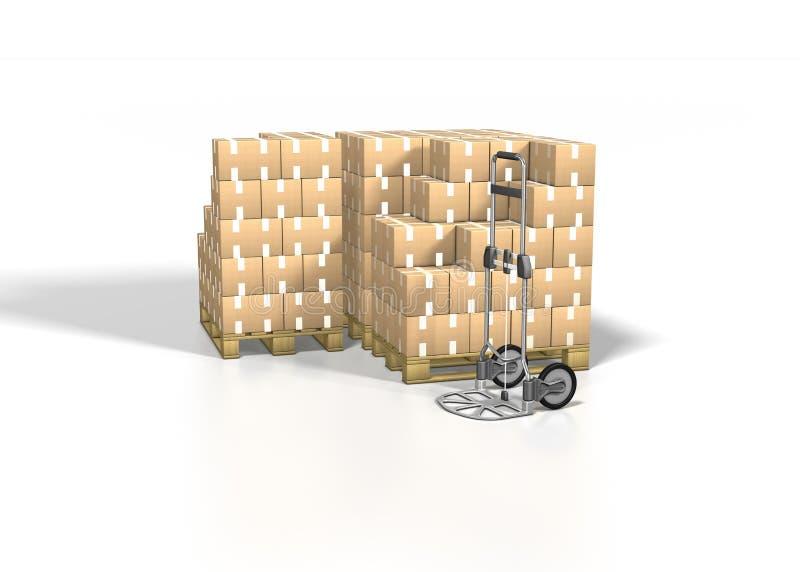 перевозка груза коробки бесплатная иллюстрация