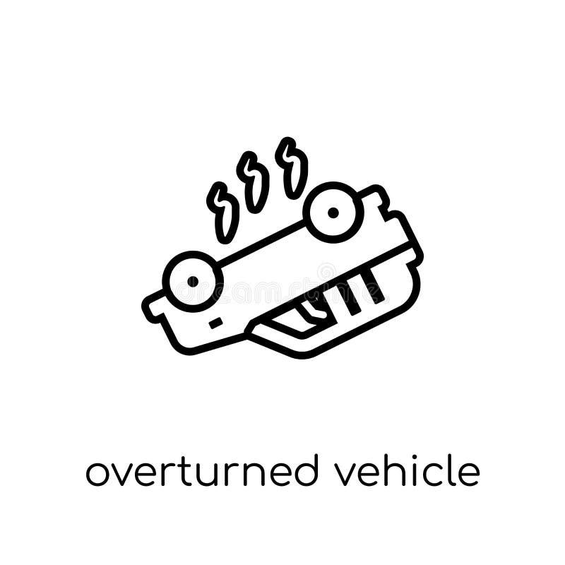 Переворачиванный значок корабля Ультрамодный современный плоский линейный вектор Overtu бесплатная иллюстрация
