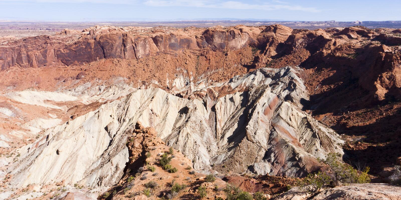 переворот Юта национального парка купола canyonlands стоковые фото