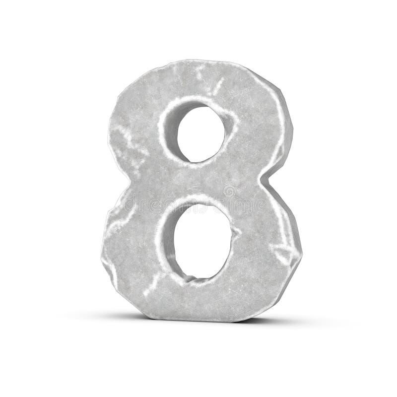 Перевод каменный 8 изолированный на белой предпосылке бесплатная иллюстрация