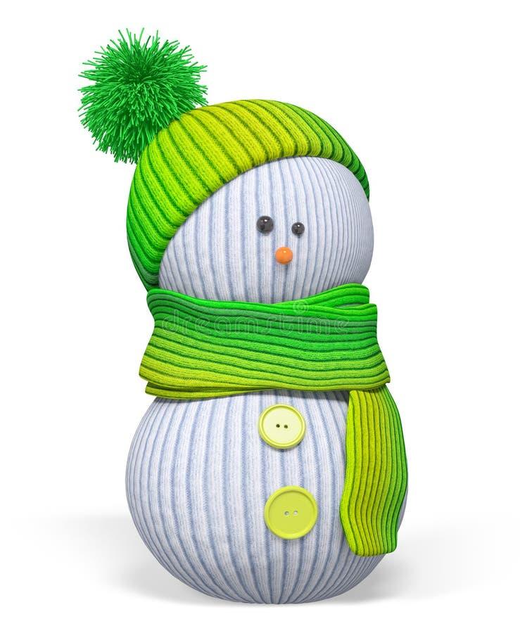 Перевод 3d изолированный снеговиком иллюстрация вектора