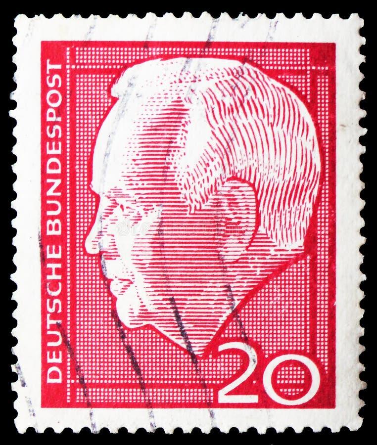 Перевыборы bke ¼ президента Генриха LÃ, serie, около 1964 стоковое изображение